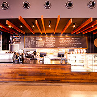 EQ Cafe lounge Canberra Deakin dinning area
